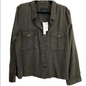 Sanctuary Army Green XL Crop Trench Jacket NWT